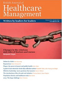 British Journal Of Healthcare Management
